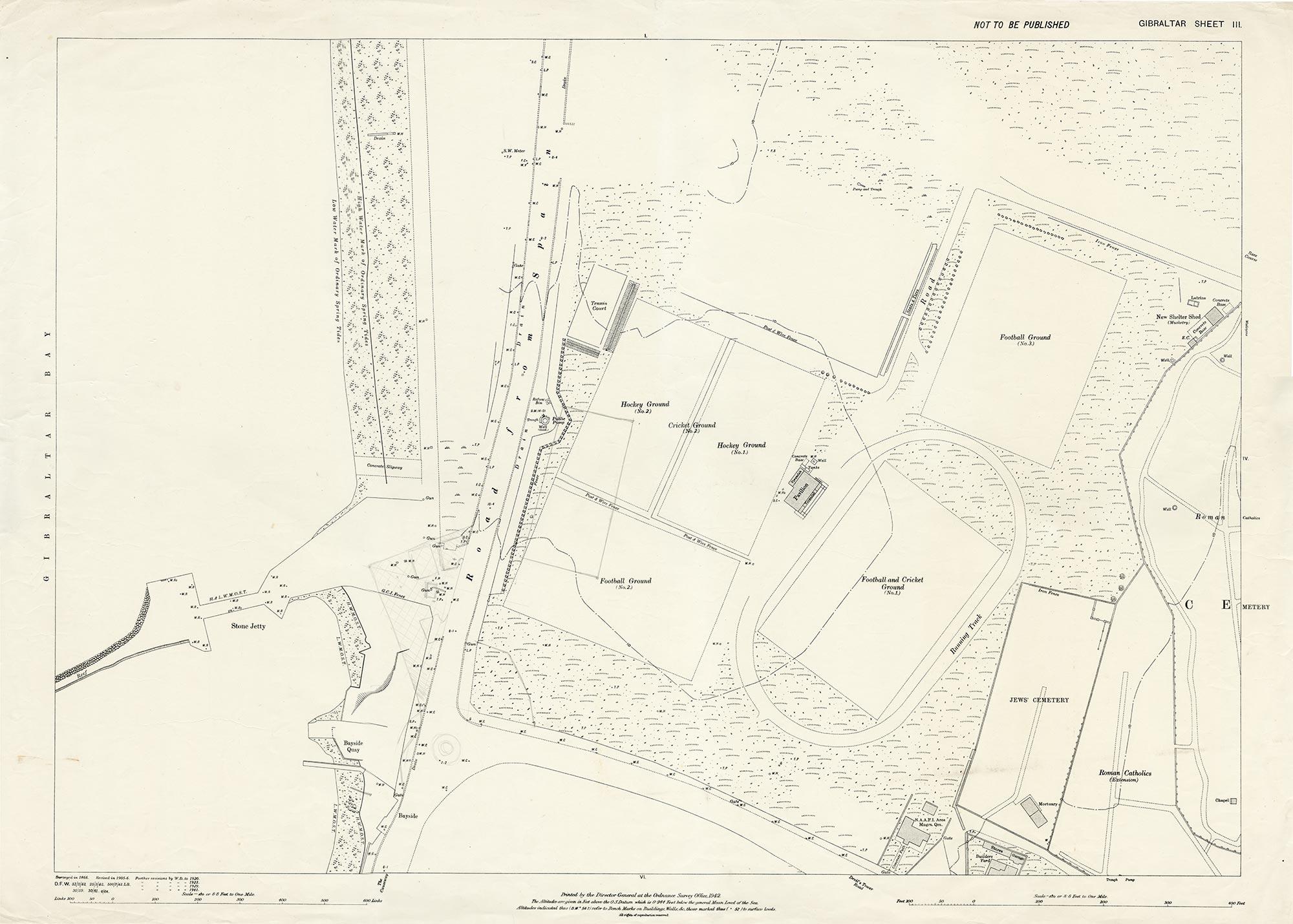 Map 1 Gibraltar Sheet 3 1942 Sundial Roundabout