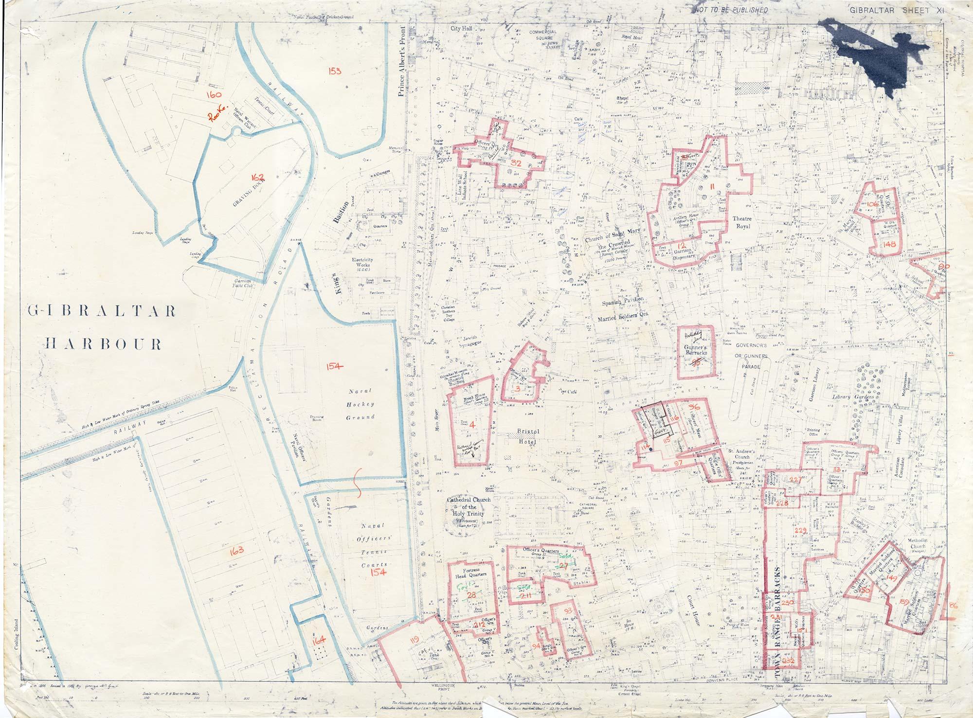 Map-11-OS-Sheet-11-Bristol-Hotel-Gibraltar-Harbour