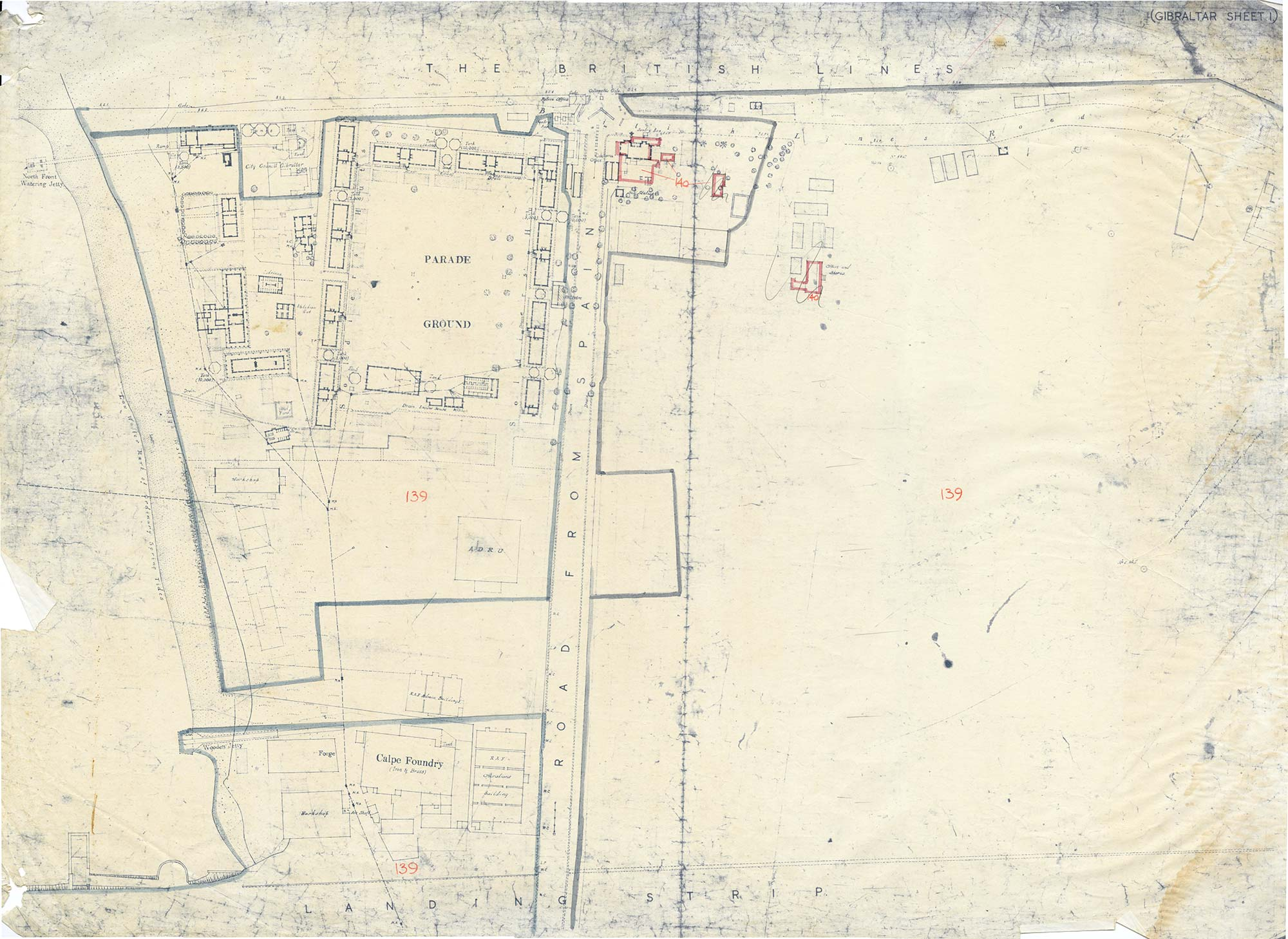 Map-15-OS-sheet-1-4-Corners-Entrance-of-Gibraltar-1944