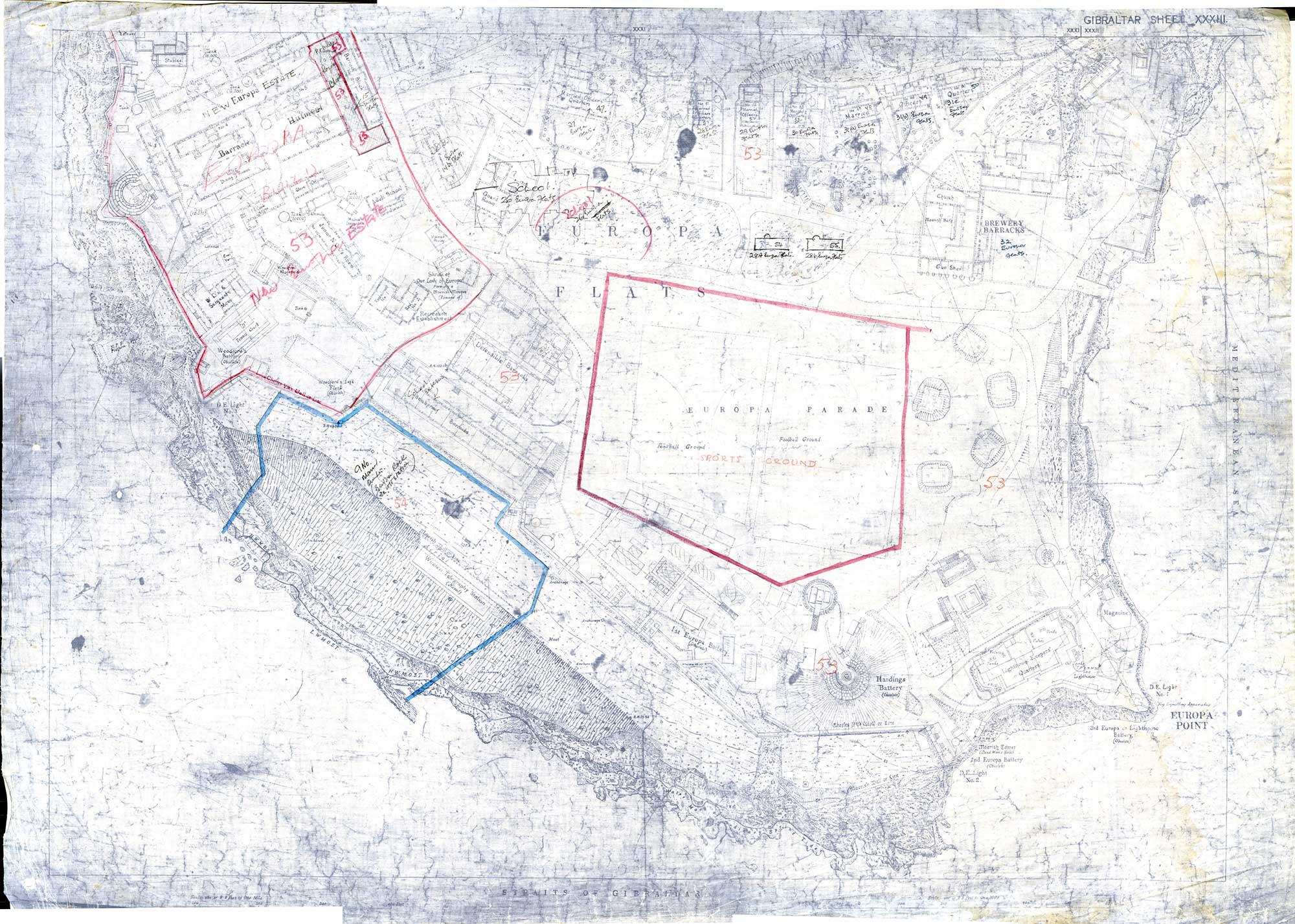 Map-17-Gibraltar-Sheet-33-1942-Europa-Point