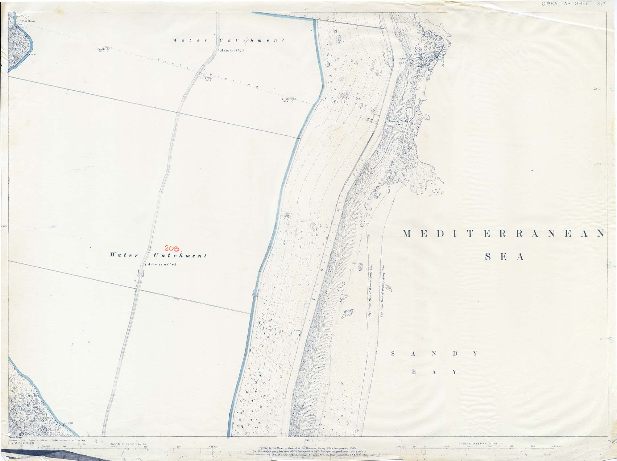 Map-19-OS-Sheet-19-Water-Catchment-Sandy-Bay-1934