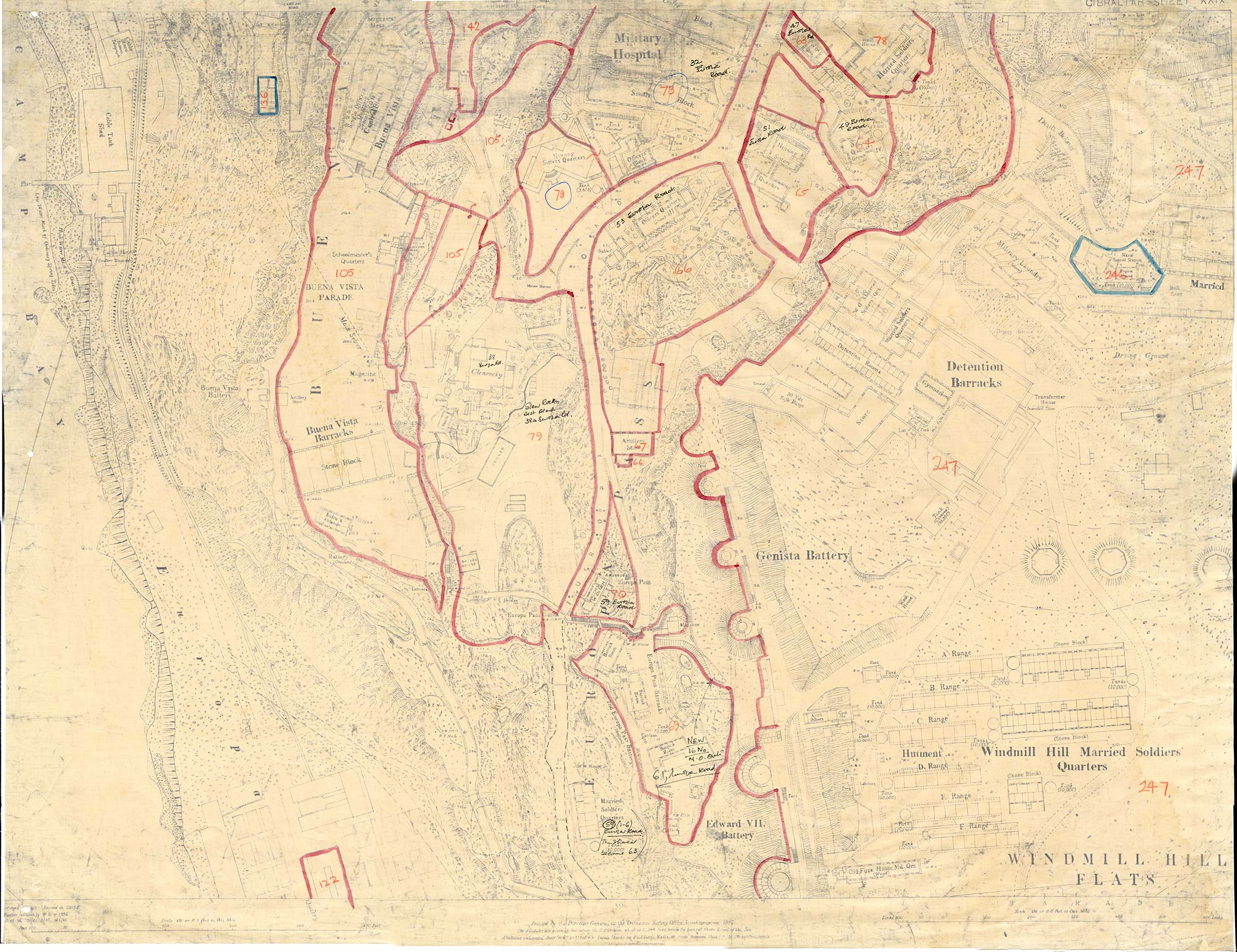 Map-2-Gibraltar-Sheet-39-1941-Buffadero-Training-Area-Windy