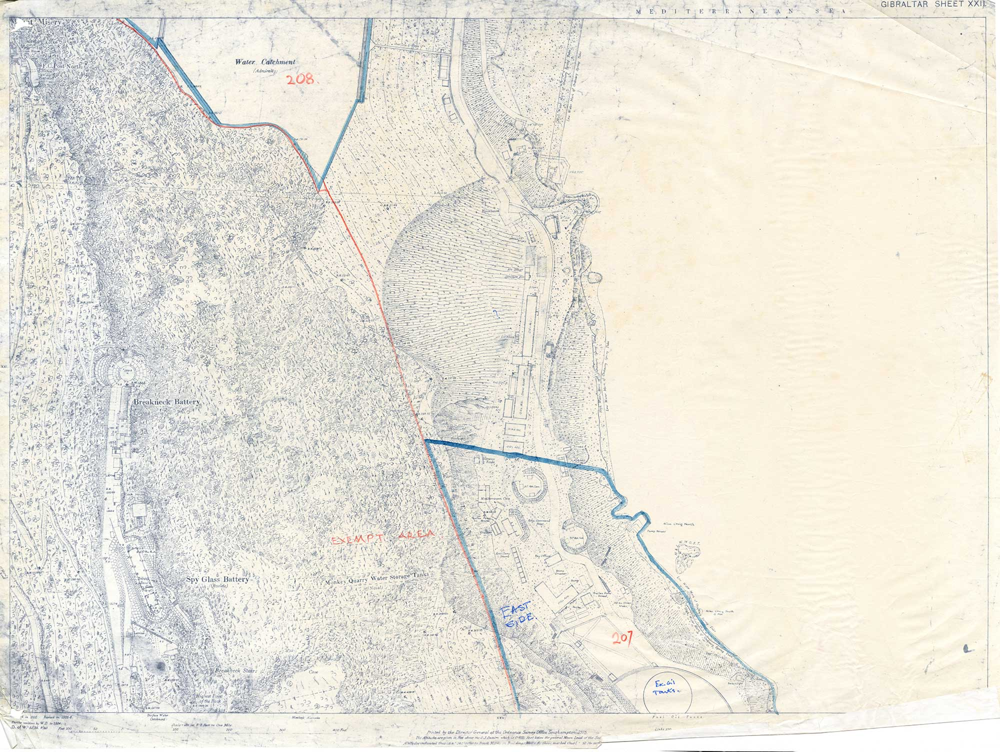 Map-26-OS-Sheet-22-Spyglass-to-Water-Catchment-1931