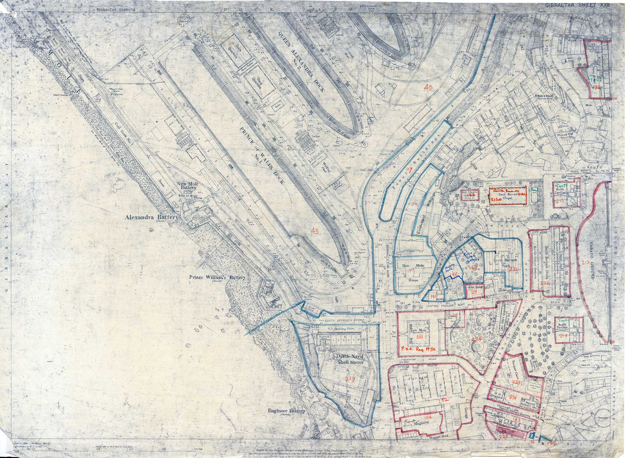 Map-27-OS-Sheet-23-Dry-docks-New-Mole-Police-Stations-South-