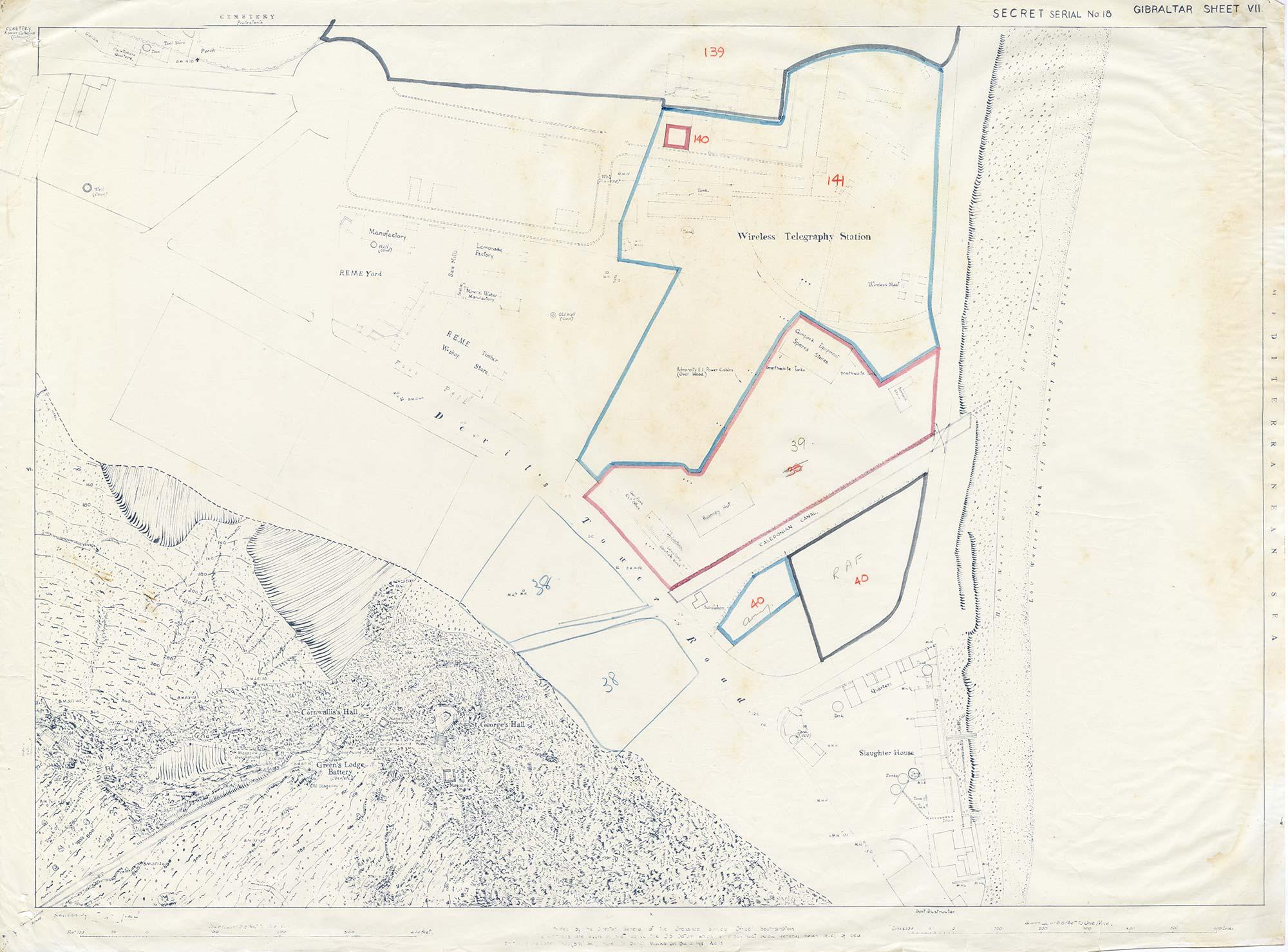 Map-3-Gibraltar-Sheet-7-1941-Devils-Tower-Road