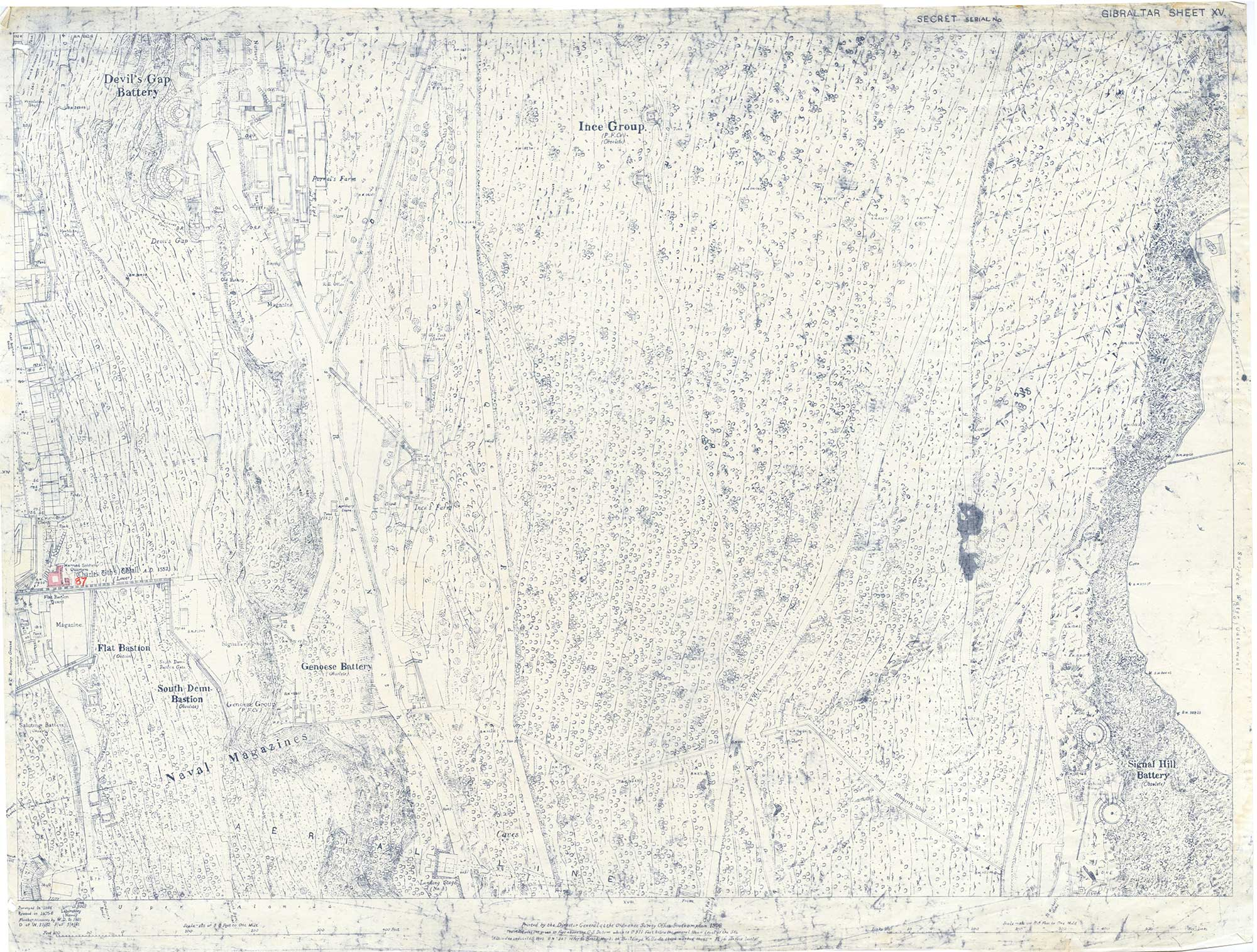 Map-30-Sheet-15-Devils-Gap-Battery-to-Signal-Hill-1941