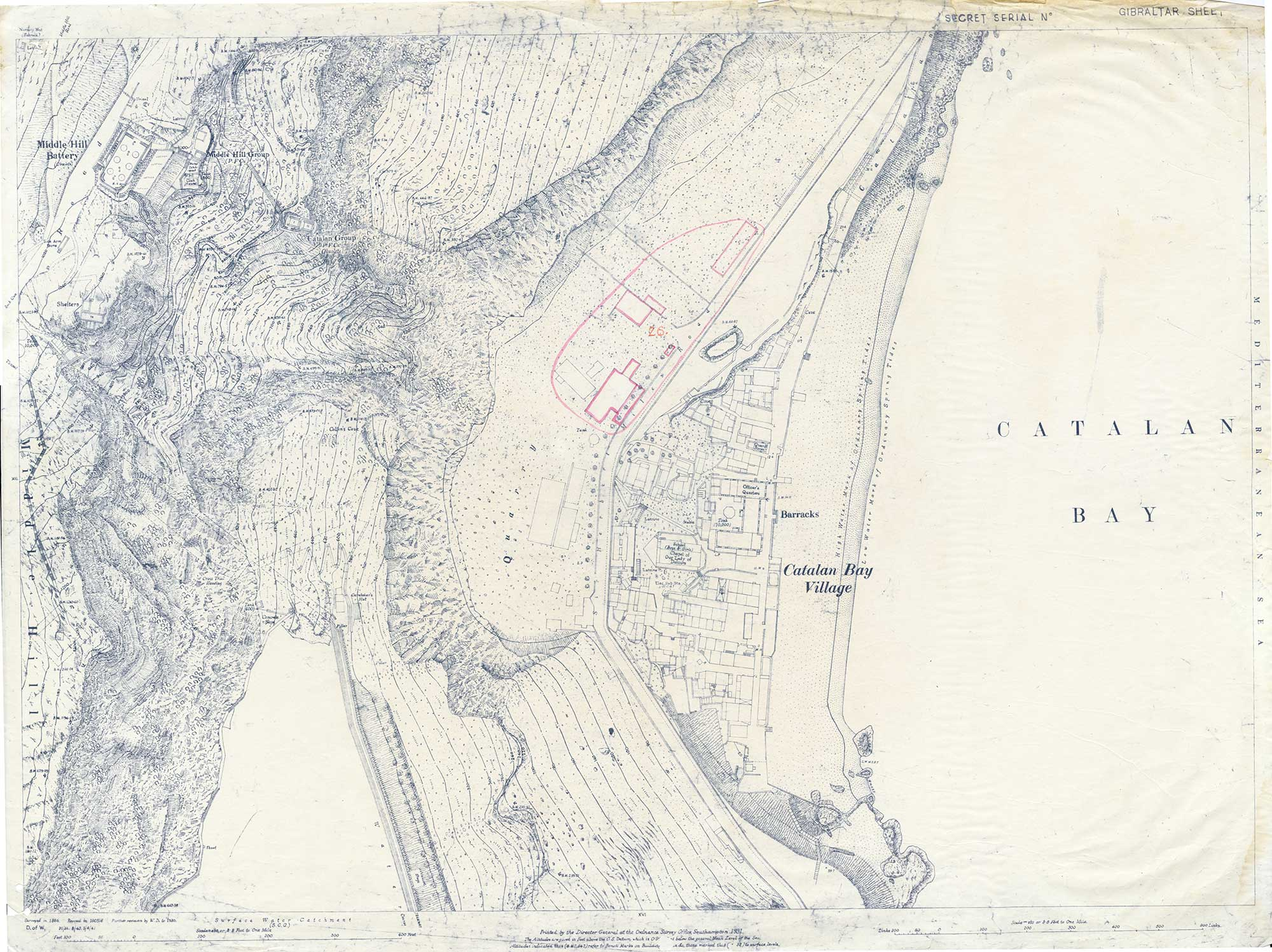 Map-31-Sheet-13-Middle-Hill-Station-to-Catalan-Bay-1931