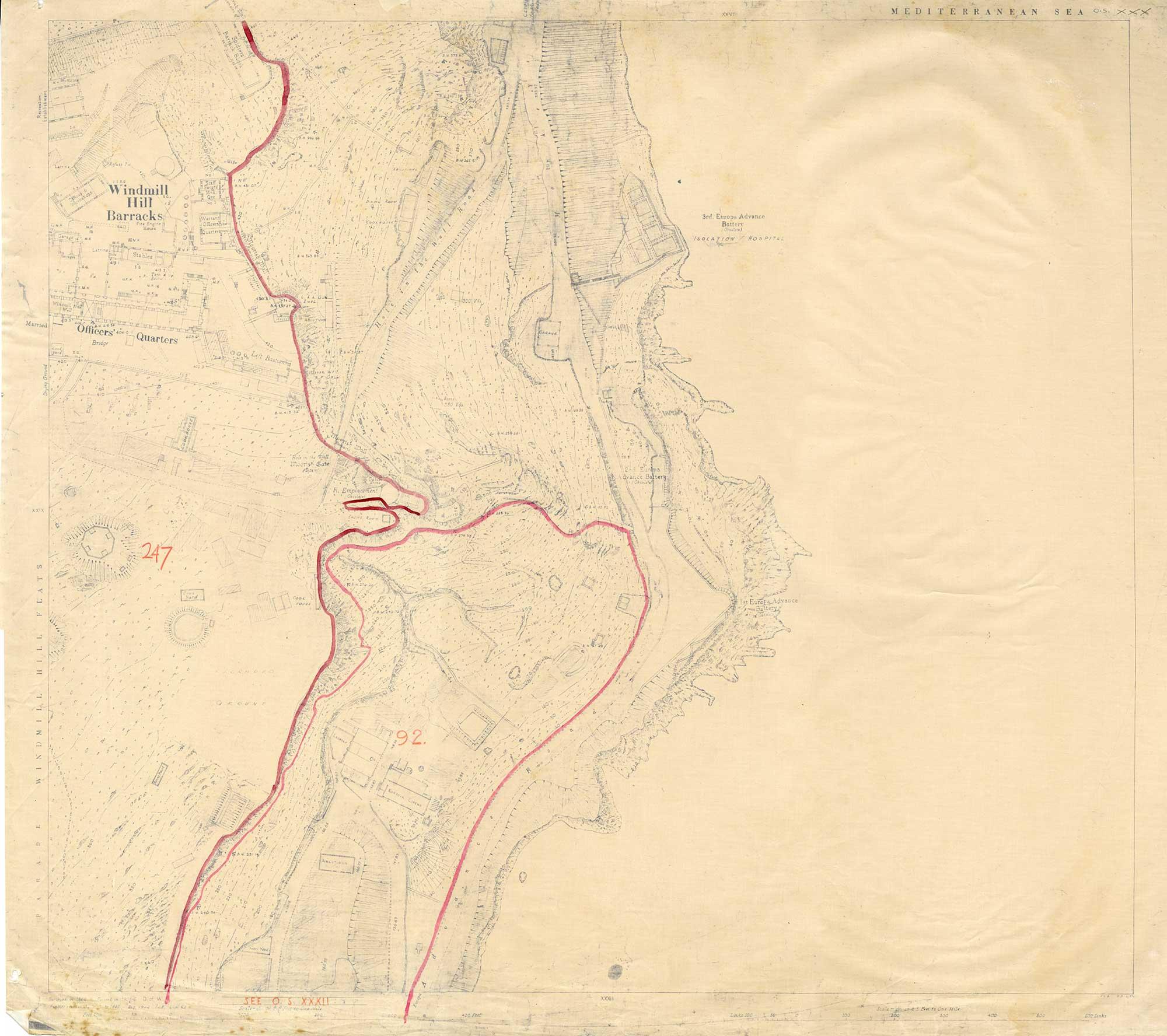 Map-34-Sheet-30-Windmill-Hill-Barracks-1941