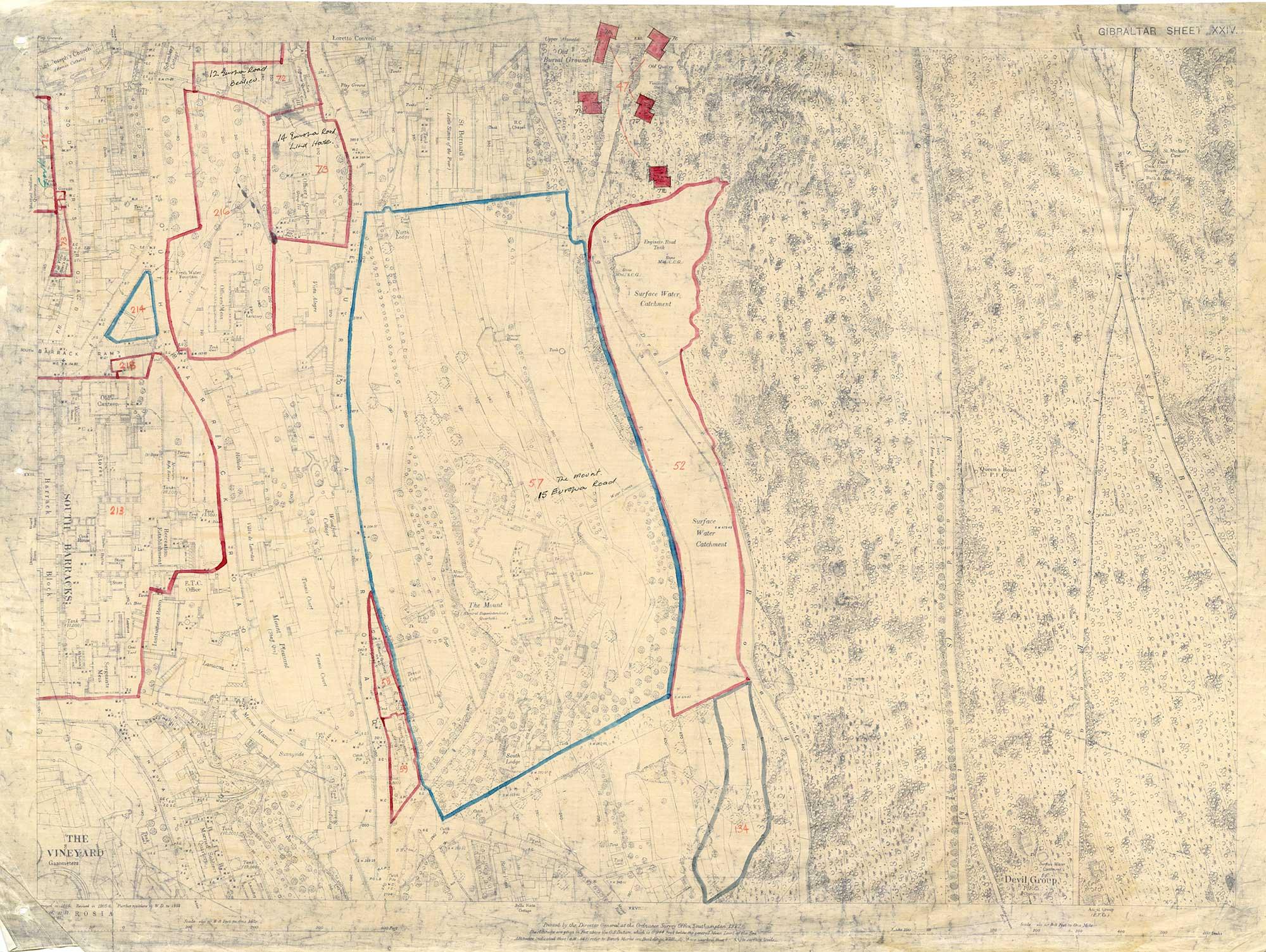Map-36-OS-sheet-24-Loretto-Convent,-South-Barracks,-Devils-G