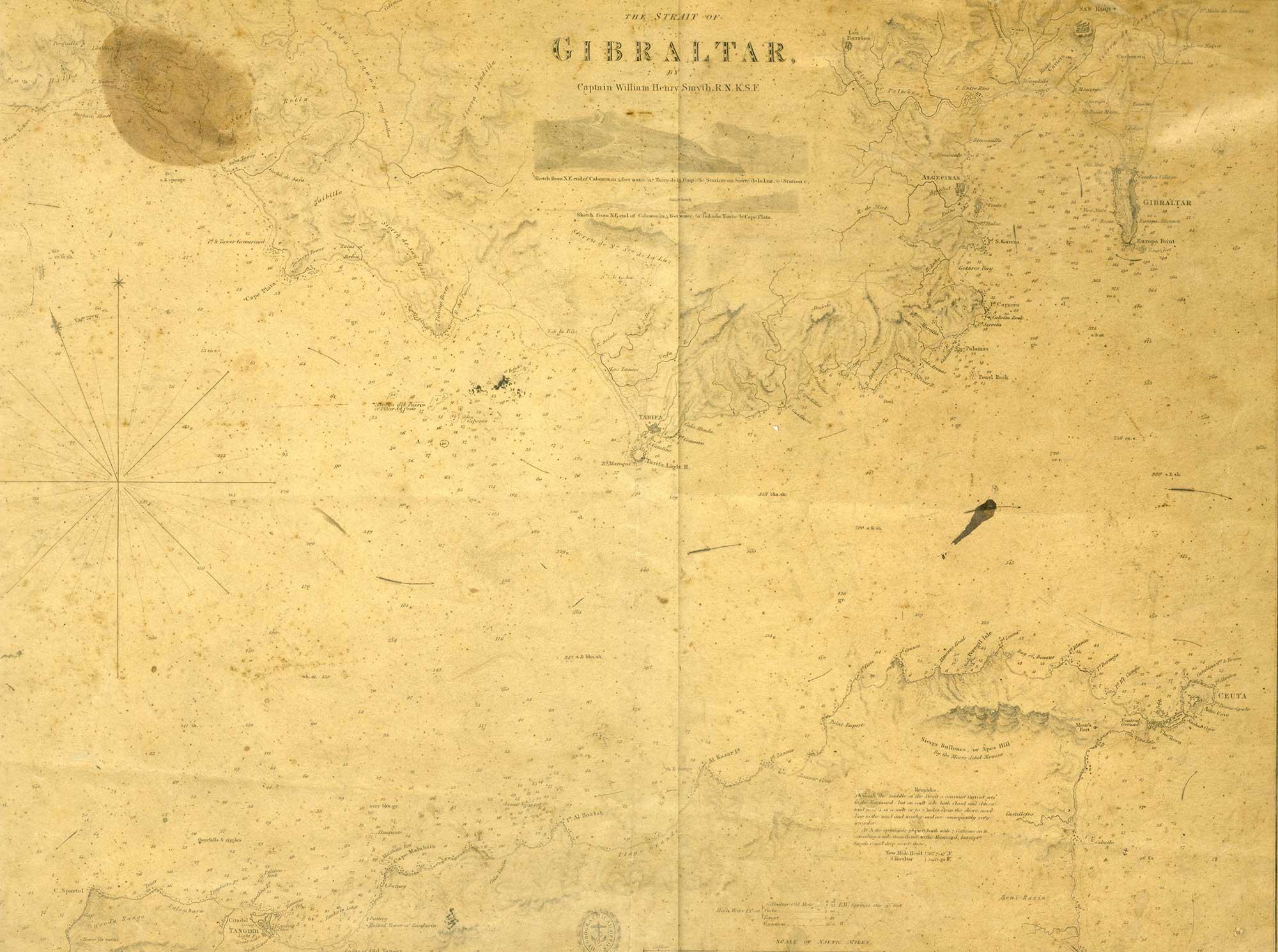 Map-39-Strait-of-Gibraltar-Map-Captain-William-Smythe