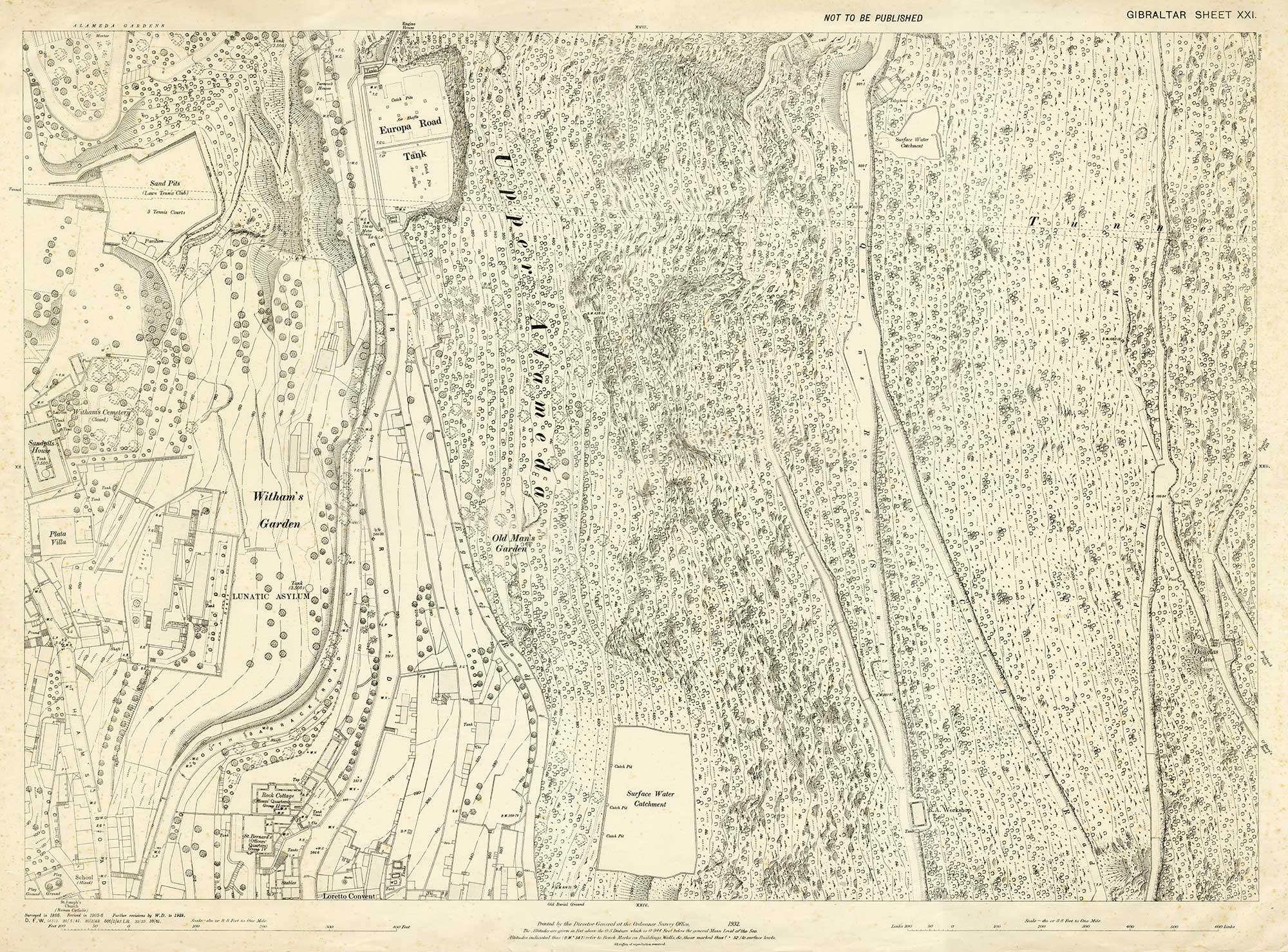 Map-6-sheet-21-Gibraltar-upper-rock-1932